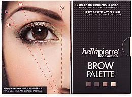Paletka do makijażu brwi - Bellapierre Cosmetics Brow Palette — фото N2