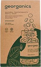 Kup PRZECENA! Miętowe tabletki do płukania jamy ustnej - Georganics Mouthwash Tablets Spearmint Refill Pack (opakowanie uzupełniające)*