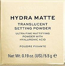 Kup Sypki puder matujący - Revolution Pro Hydra Matte Translucent Setting Powder
