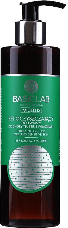 Żel oczyszczający do twarzy skóry tłustej i wrażliwej - BasicLab Dermocosmetics Micellis