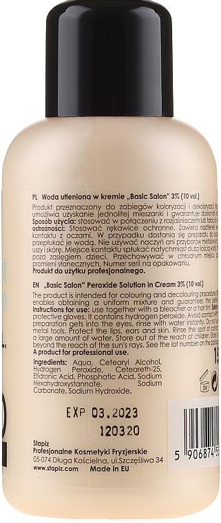 Woda utleniona w kremie 3% - Stapiz Professional Oxydant Emulsion 10 Vol. — фото N2