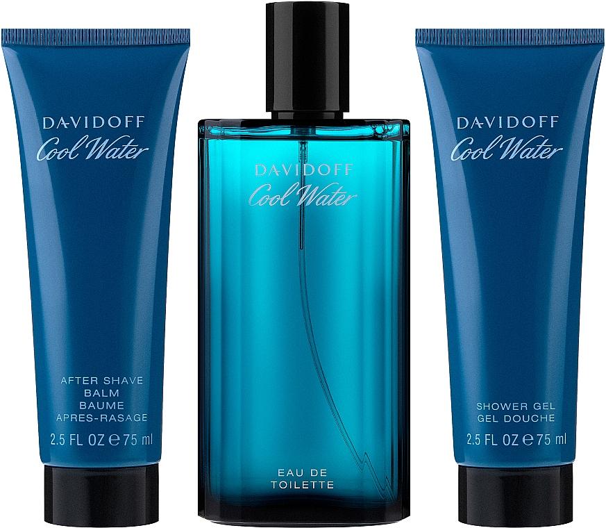Zestaw dla mężczyzn - Davidoff Cool Water (edt 125 ml + sh/gel 75 ml + ash/balm 75 ml) — фото N2
