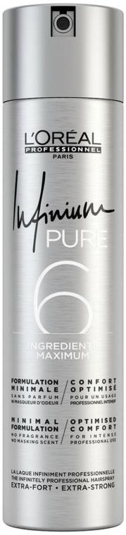 Bezzapachowy lakier do włosów Ultramocne utrwalenie - L'Oreal Professionnel Infinium Pure Extra Strong