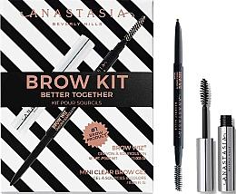 Kup Zestaw - Anastasia Beverly Hills Better Together Brow Kit Dark Brown (pencil/0.085g + gel/2.5ml)