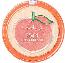 Kup Róż i rozświetlacz do twarzy 2 w 1 - Lovely Peach Blusher And Highlighter