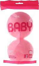 Kup Zestaw gąbek kąpielowych dla dzieci, różowe, 2 szt. - Suavipiel Baby Soft Sponge
