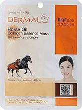 Kup Kolagenowa esencjonalna maseczka w płachcie do twarzy Tłuszcz koński - Dermal Horse Oil Collagen Essence Mask