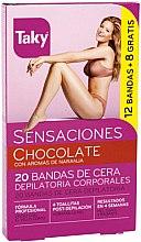 Kup Czekoladowy wosk w paskach do depilacji ciała - Taky Chocolate Body Wax Strips With Orange Fragrance Box