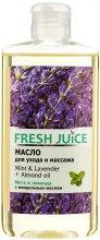 Kup Olejek do pielęgnacji i masażu ciała Mięta, lawenda i olej arganowy - Fresh Juice Energy Mint&Lavender+Almond Oil
