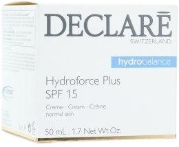 Kup Nawilżający krem do twarzy (SPF 15) - Declare Hydroforce Plus SPF 15 Cream