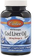 Kup Olej z wątroby dorsza w żelowych kapsułkach - Carlson Labs Cod Liver Oil Minis