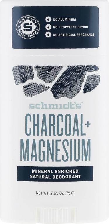 Naturalny dezodorant w sztyfcie z węglem aktywnym i magnezem - Schmidt's Natural Deodorant Charcoal + Magnesium Stick