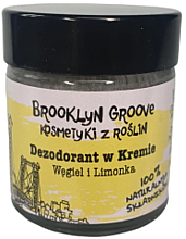 Kup Dezodorant w kremie Węgiel i limonka - Brooklyn Groove Deodorant Cream