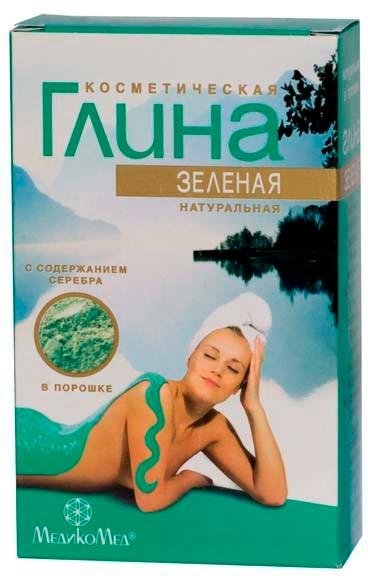 Naturalna kosmetyczna glinka zielona ze srebrem - MedikoMed