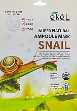 Kup Maska na tkaninie do twarzy z ekstraktem z mucyny ślimaka - Ekel Super Natural Ampoule Mask Snail