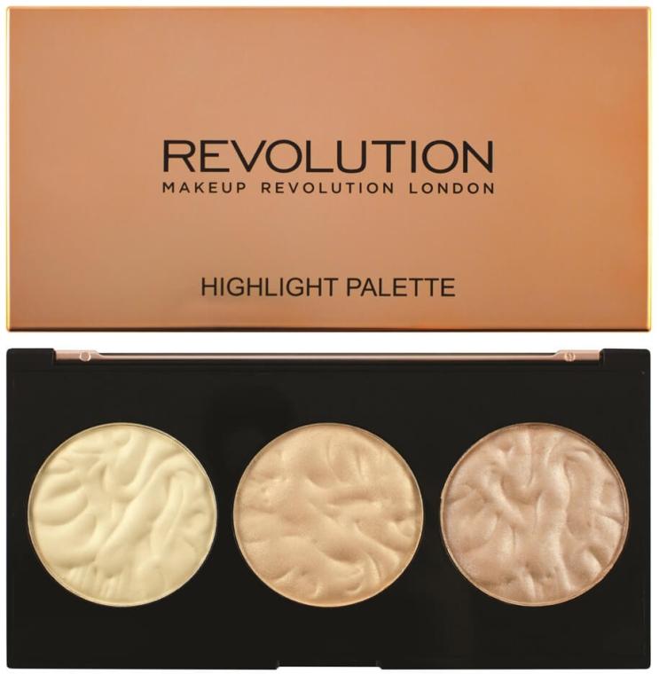 Paleta rozświetlaczy do twarzy - Makeup Revolution Highlighter Palette