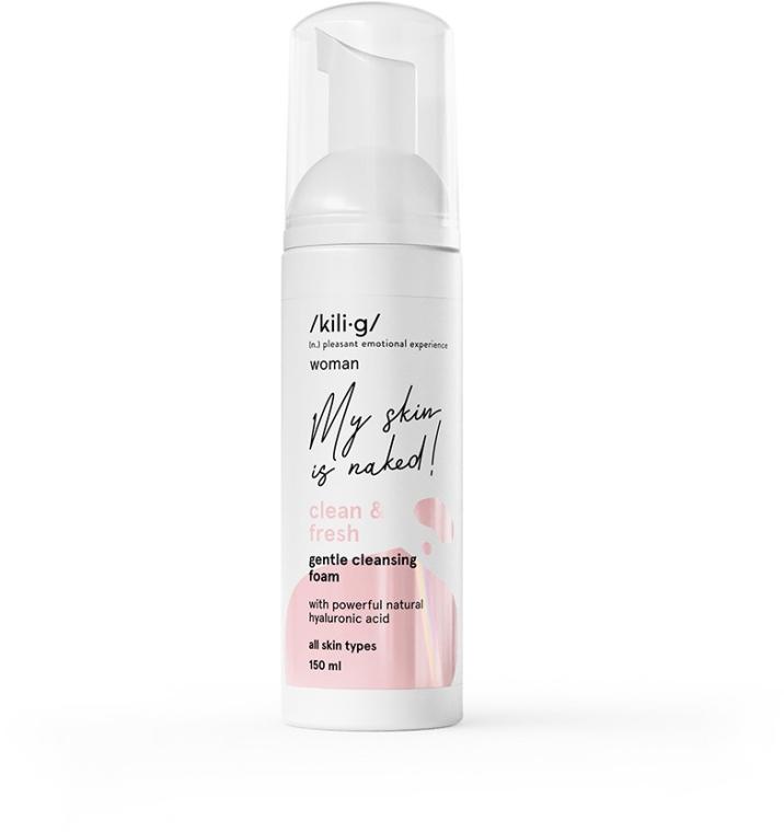 Delikatna pianka oczyszczająca do twarzy - Kili·g Woman Clean & Fresh Gentle Cleansing Foam — фото N1