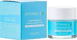 Kup Nawilżający krem na noc do cery normalnej i mieszanej - Oriflame Optimals Hydra Radiance Nourishing Night Cream