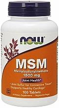 Kup Suplement diety Metylosulfonylometan w tabletkach, 1500 mg - Now Foods MSM Methylsulfonylmethane