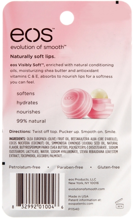 Balsam do ust Mleczko kokosowe - EOS Visibly Soft Lip Balm Sphere Coconut Milk — фото N3
