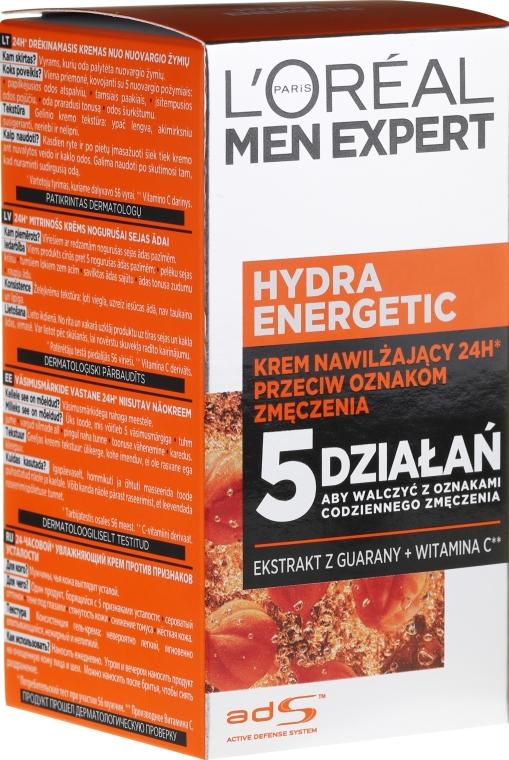 Nawilżający krem przeciw oznakom zmęczenia - L'Oreal Paris Men Expert Hydra Energetic Anti-Fatigue Moisturiser