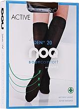 Kup Podkolanówki masujące stopy Active 20 DEN, nero - Knittex