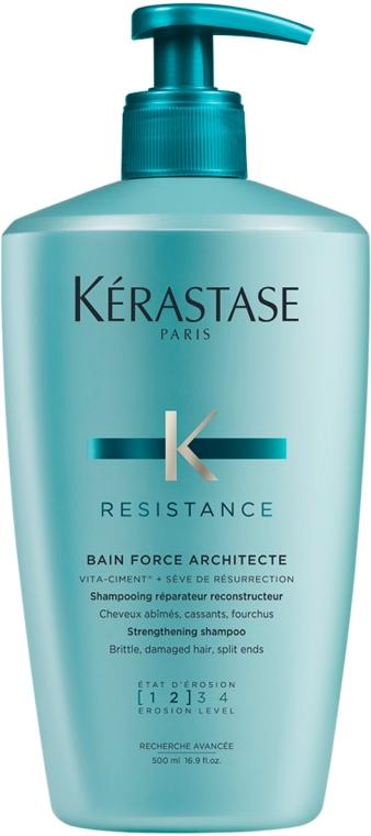 Kąpiel wzmacniająca 1-2 do włosów osłabionych, łamliwych i z rozdwojonymi końcówkami - Kérastase Bain Force Architecte Strenghtening Shampoo