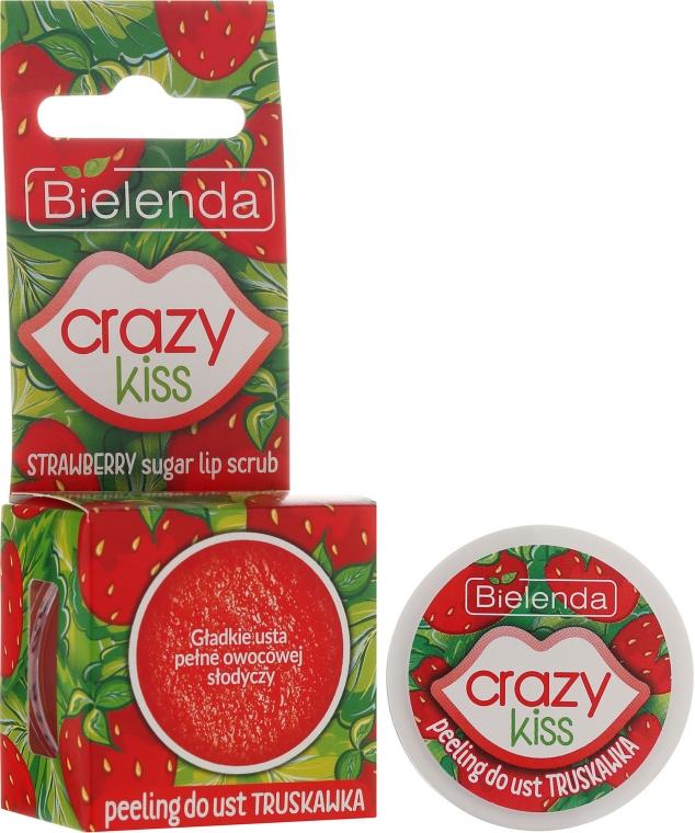 Peeling cukrowy do ust Truskawka - Bielenda Crazy Kiss