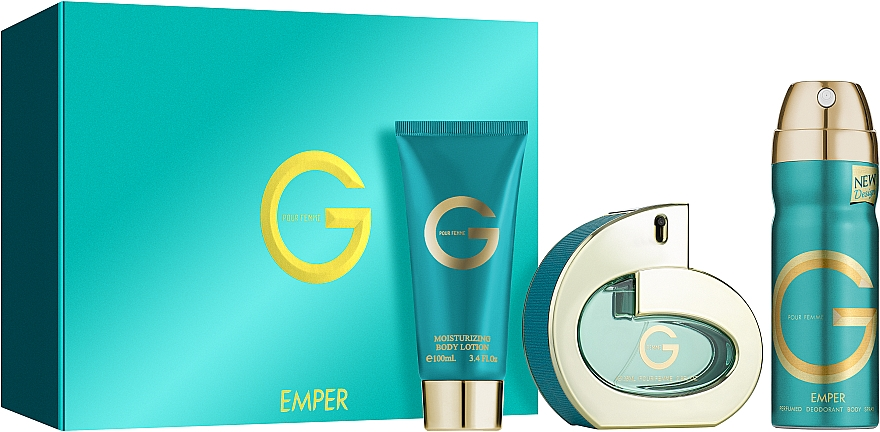Emper G Pour Femme - Zestaw (edp 100 ml + deo 200 ml + b/lot 100 ml) — фото N1