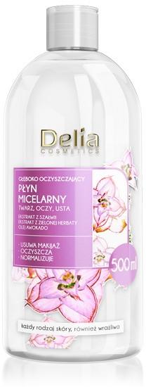 Głęboko oczyszczający płyn micelarny do twarzy, oczu i ust - Delia Deeply-Purifying Micellar Water