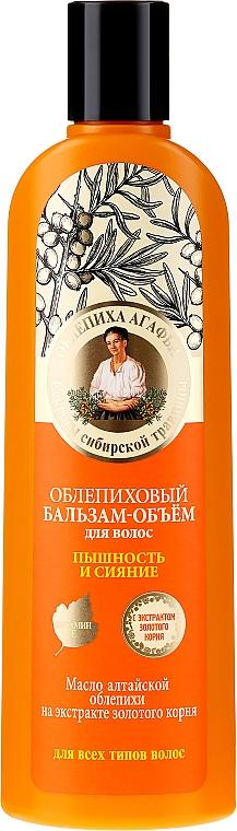 Rokitnikowy balsam zwiększający objętość włosów Puszystośc i blask - Receptury Babci Agafii Rokitnik Agafii — фото N1