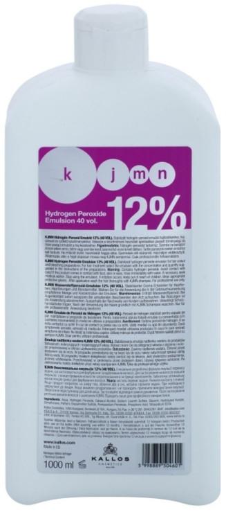 Utleniacz do włosów 12% - Kallos Cosmetics KJMN Hydrogen Peroxide Emulsion