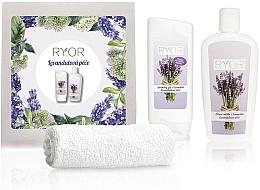 Kup Zestaw - Ryor Lavender Care Set (sh/gel/200ml + lot/300ml + towel)