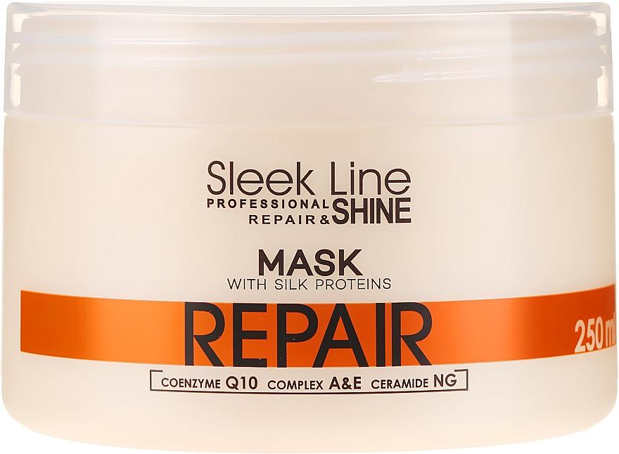 Regenerująca maska z jedwabiem do włosów - Stapiz Sleek Line Repair