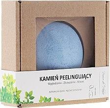 100% naturalny ręcznie wykonany kamień peelingujący do ciała, błękitny - Pierre de Plaisir Natural Scrubbing Stone Body — фото N1