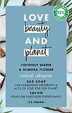 Kup Odświeżające mydło w kostce Woda kokosowa i mimoza - Love Beauty&Planet Coconut Water & Mimosa Flower Bar Soap