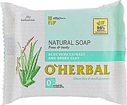 Kup Naturalne mydło w kostce z ekstraktem z aloesu i glinką zieloną - O'Herbal Natural Soap