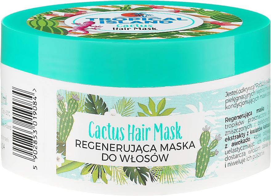 Regenerująca maska do włosów Kaktus - Marion Tropical Island