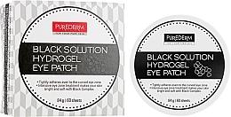 Kup Hydrożelowe płatki pod oczy z pudrem perłowym - Purederm Black Solution Hydrogel Eye Patch