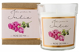 Kup Świeca zapachowa w szkle Róża - Ambientair Le Jardin de Julie Rose de Mai