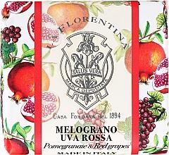 Kup Naturalne mydło do rąk w kostce Granat i czerwone winogrono - La Florentina Pomegranate & Red Grape Natural Soap