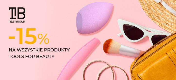 Zniżka 15% na wszystkie produkty Tools For Beauty. Сeny uwzględniają zniżkę.