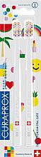 Kup Zestaw szczoteczek do zębów, 5460 ultramiękkie, białe - Curaprox Ultra Soft Pop Art Edition