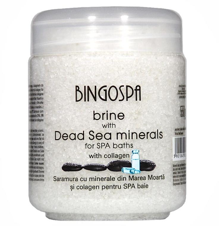 Solanka z minerałami Morza Martwego z kolagenem transdermalnym - BingoSpa Brine Of The Dead Sea Minerals With Collagen Transdermal