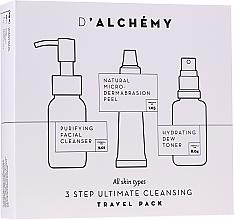 Kup Zestaw - D'Alchemy 3 Step Ultimate Cleansing Travel Pack (toner/30ml + f/cleanser/50ml + f/peel/15ml)