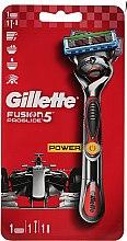 Kup Maszynka do golenia z 1 wymienną końcówką, czerwona - Gillette Fusion ProGlide Power