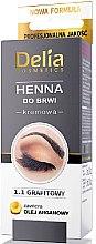 Kup Kremowa henna do brwi Grafitowa - Delia