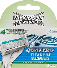 Kup Wymienne ostrza do maszynki, 4 szt. - Wilkinson Sword Quattro Titanium Sensitive