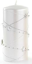 Kup Świeca dekoracyjna, biały walec, 7 x 10 cm - Artman Christmas Garland