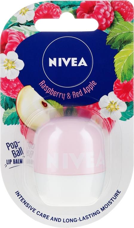 Nawilżający balsam do ust - Nivea Pop-Ball Raspberry & Apple Lip Balm